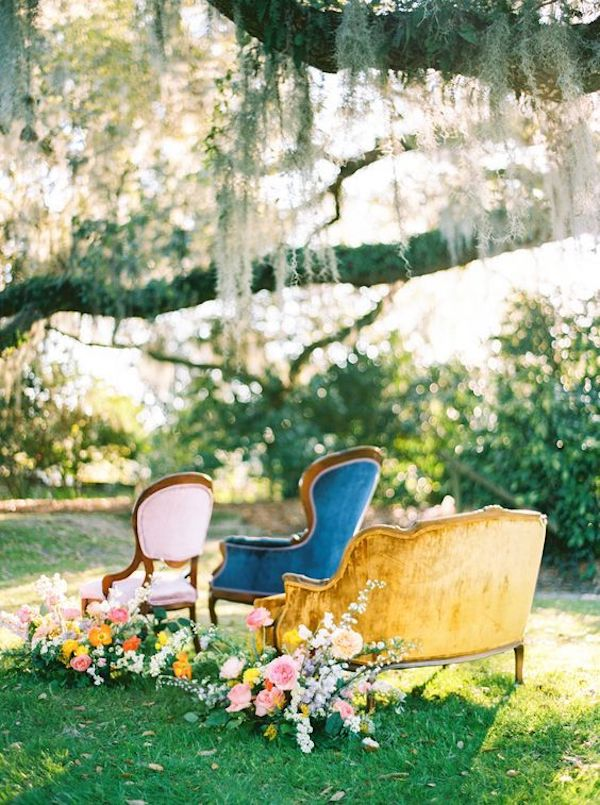 small garden wedding ceremony seating ideas