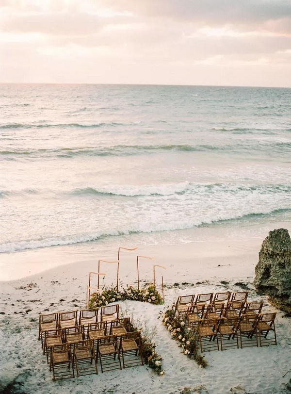 small intimate beach side destination wedding ceremony ideas