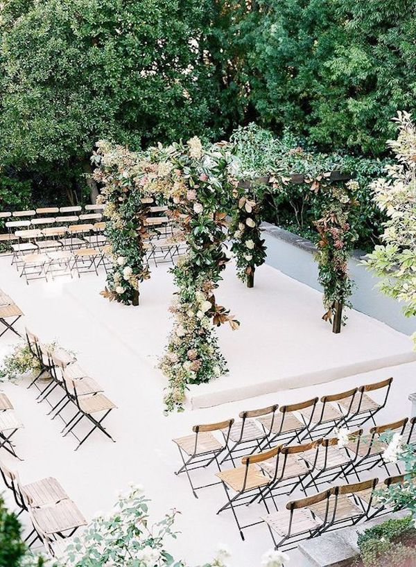 small intimate wedding ceremony seating ideas