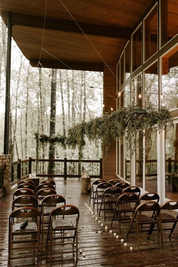 small intimate woodland wedding ceremony ideas