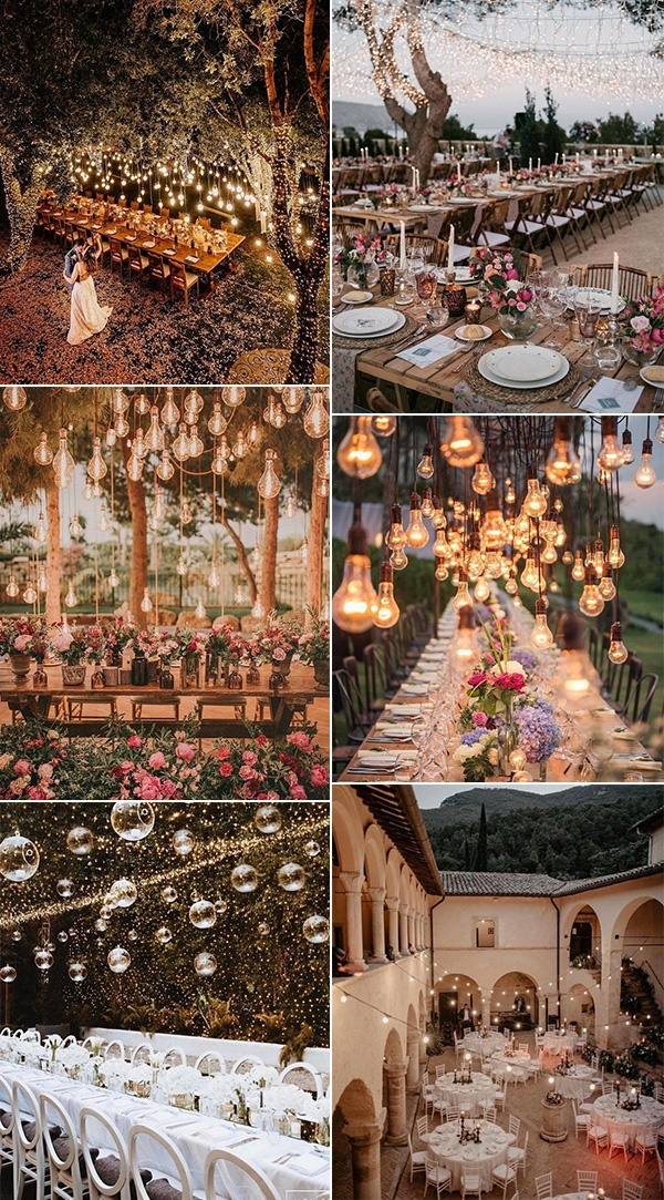 wedding reception lighting ideas for 2020 trends