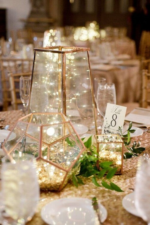 winter wedding centerpiece ideas with lights