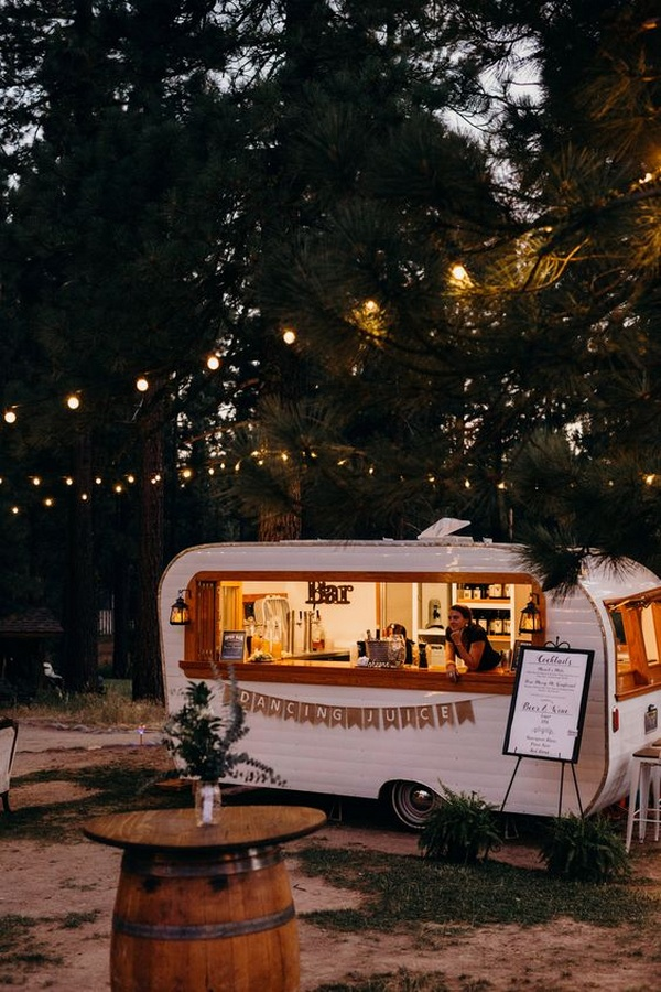 Vintage Camper Wedding Bar for backyard weddings