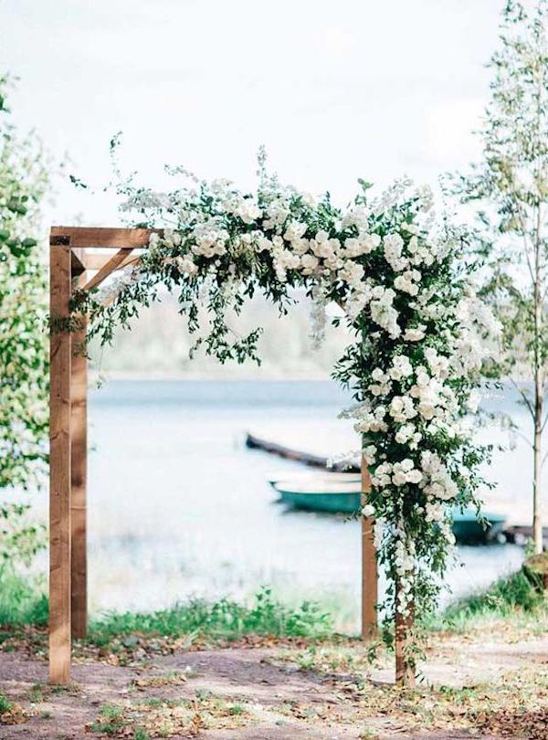backyard wedding arch ideas on a budget