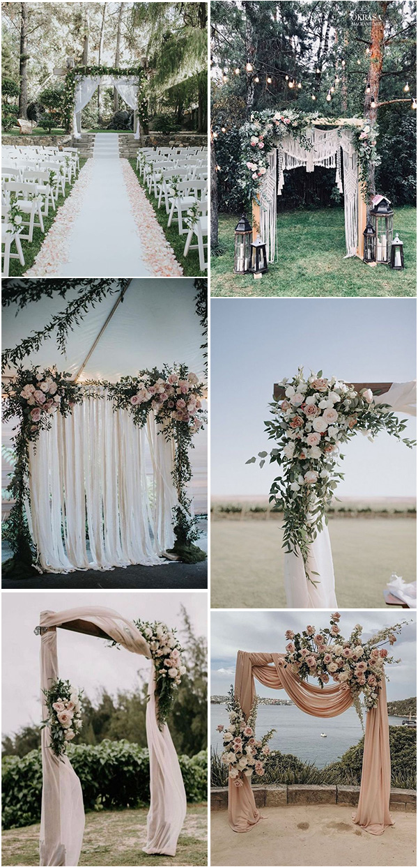 backyard wedding arches for 2020 and 2021