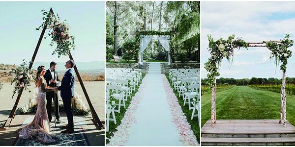 backyard wedding arches