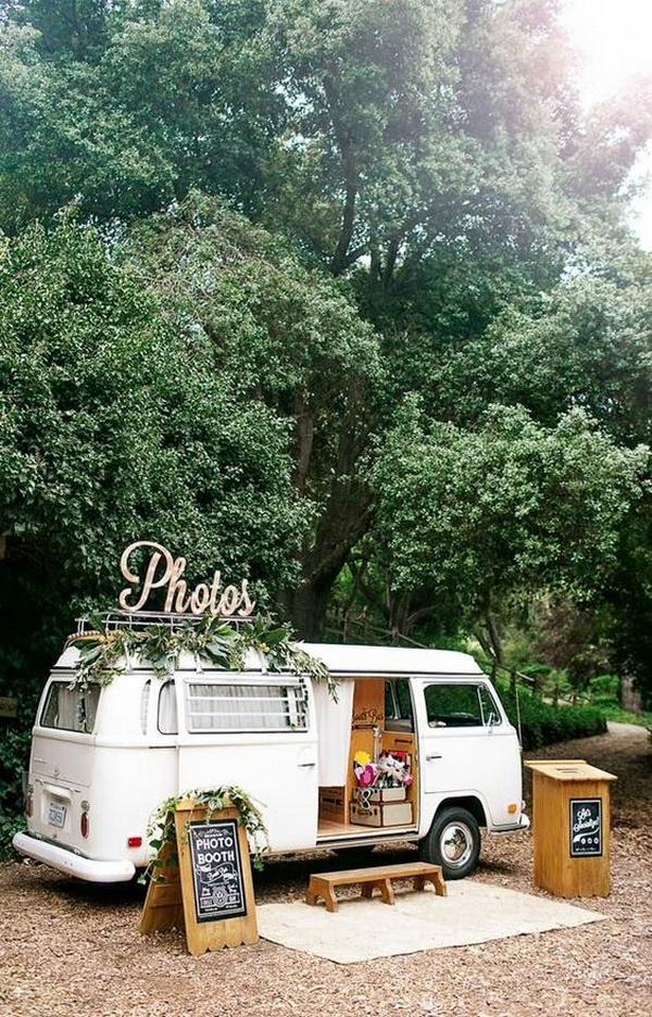 boho wedding ideas with mobile bar