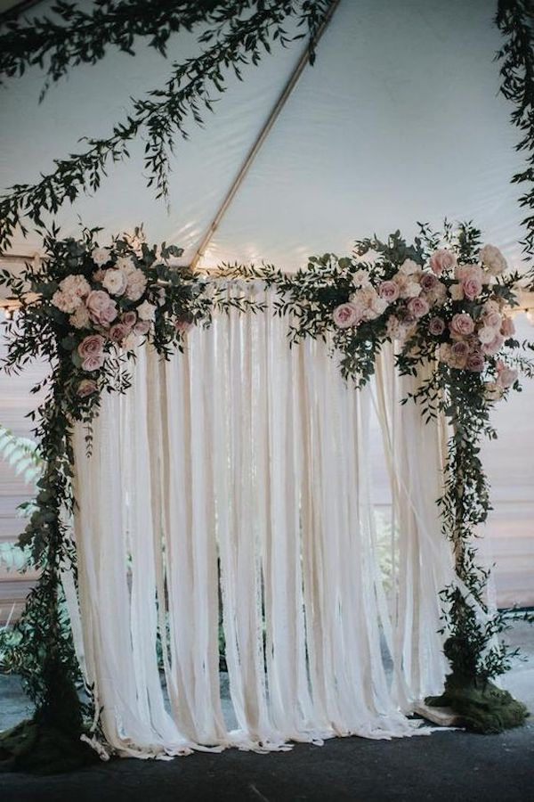 chic backyard wedding backdrop decoration ideas