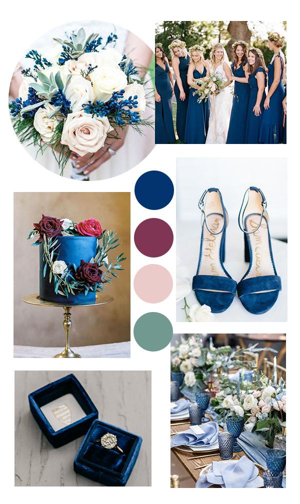 classic blue wedding color ideas