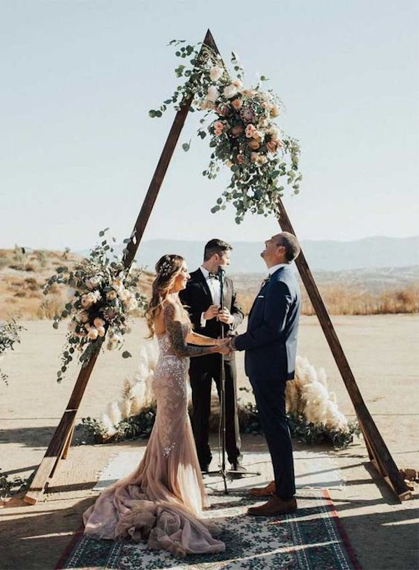 creative boho chic wedding arch ideas