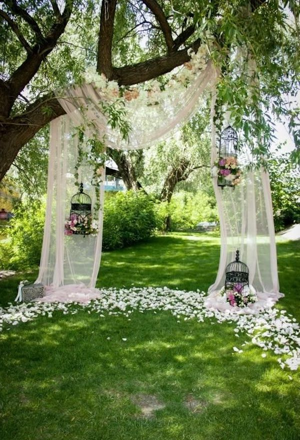 diy backyard wedding arch ideas on a budget