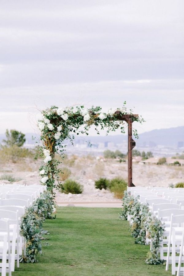 greenery wedding arch ideas for backyard weddings