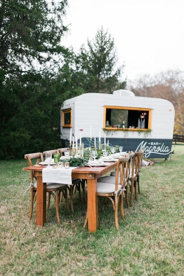 intimate small wedding mobile bar reception ideas
