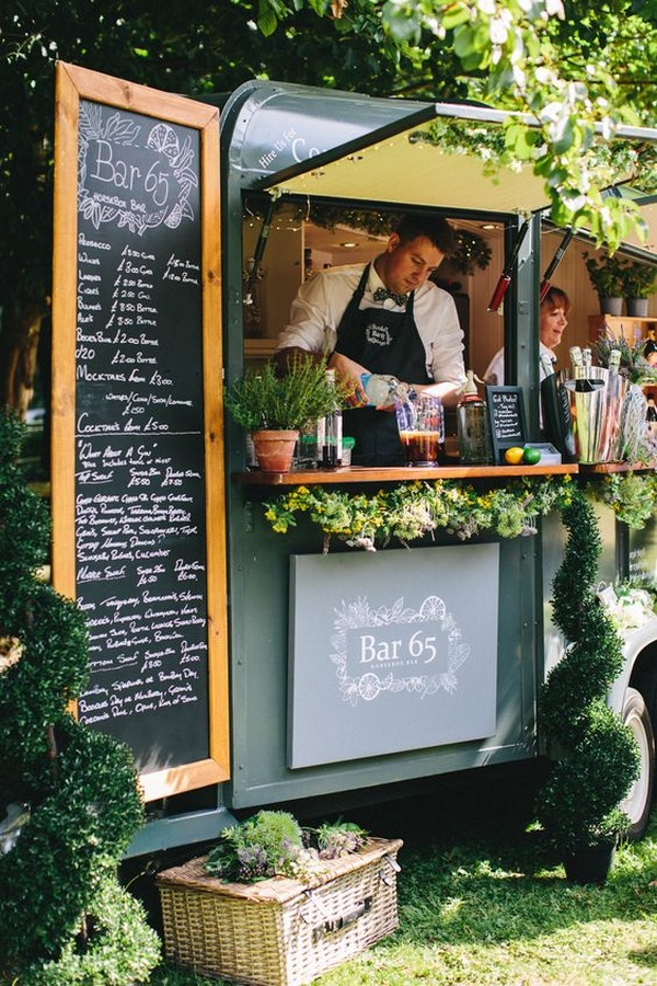 mobile bar for backyard wedding ideas