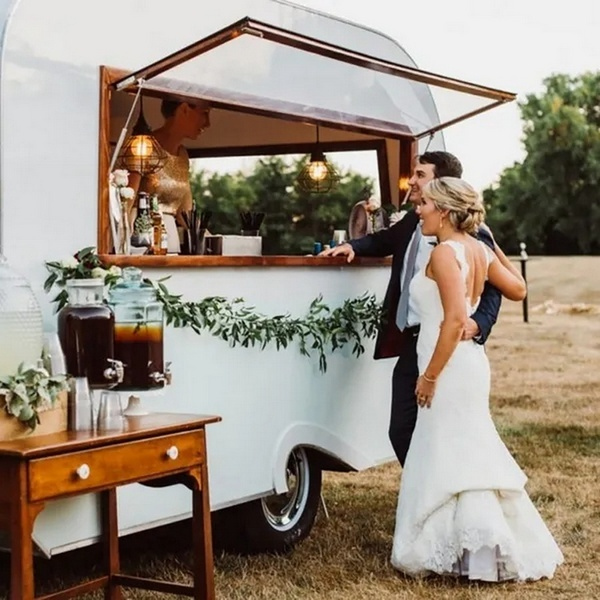 mobile drink truck for country wedding ideas
