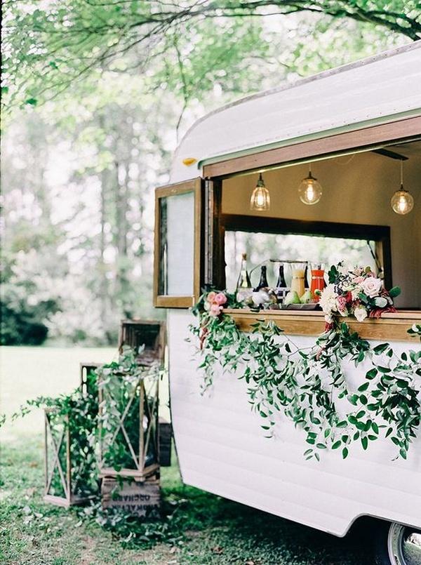 outdoor wedding mobile bar reception ideas