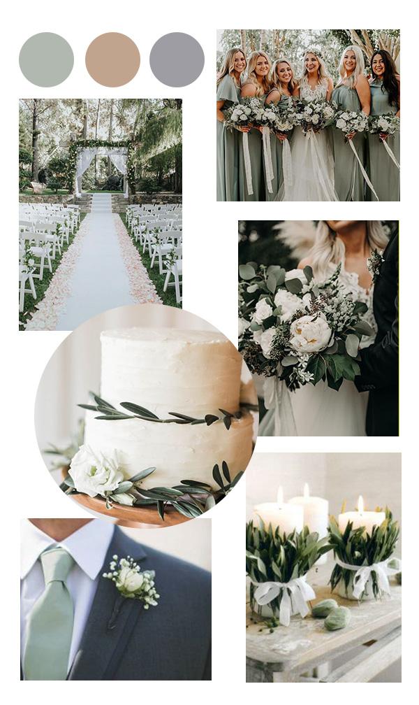 sage green neutral wedding color ideas