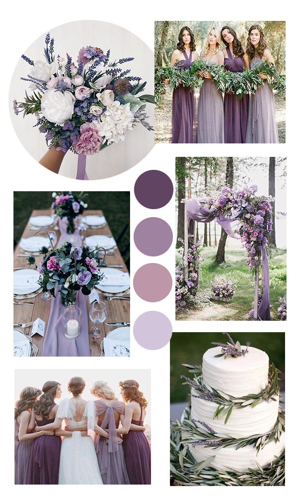shades of purple wedding color ideas