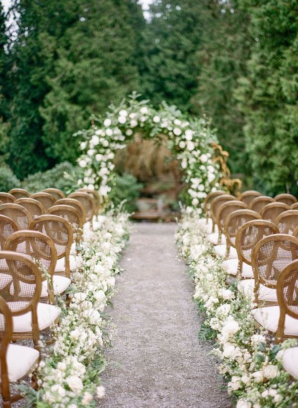 spring backyard wedding ceremony ideas