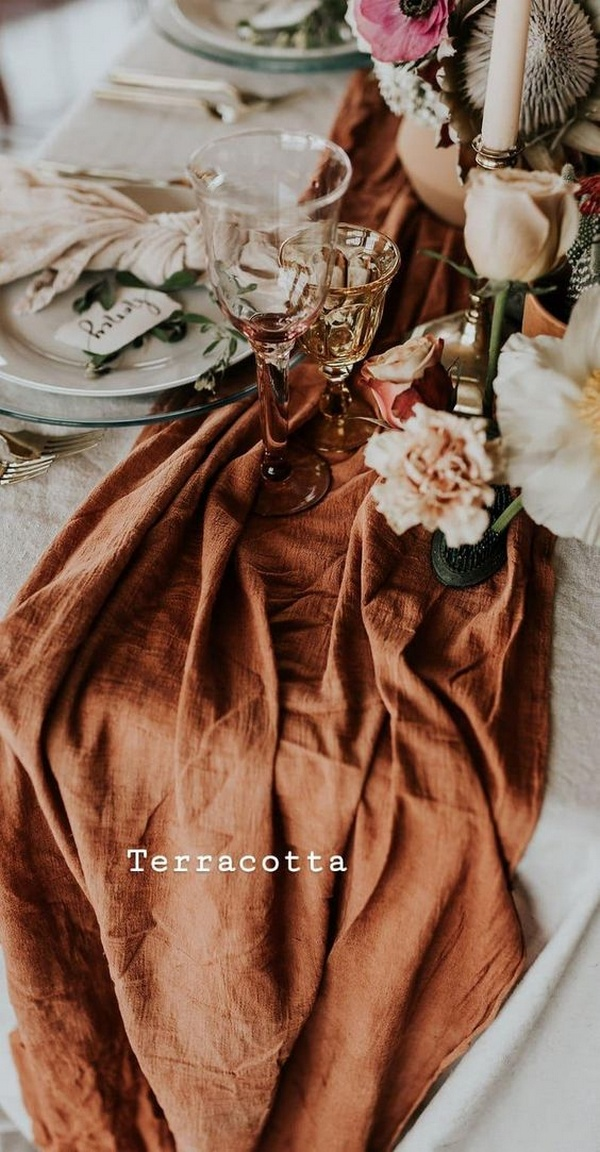 terracotta color wedding reception ideas