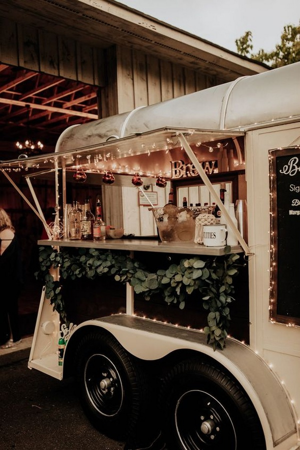 trending mobile bar wedding reception ideas