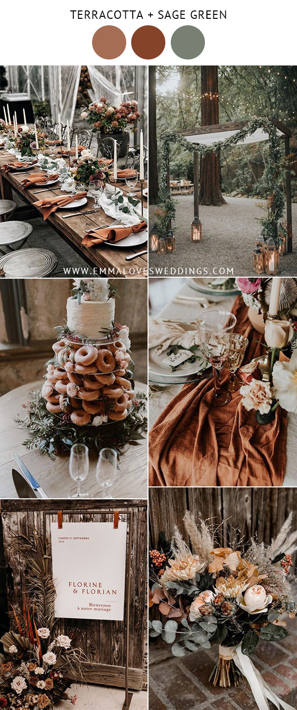 trending terracotta wedding color ideas for fall
