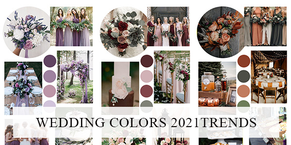wedding colors for 2021 trends