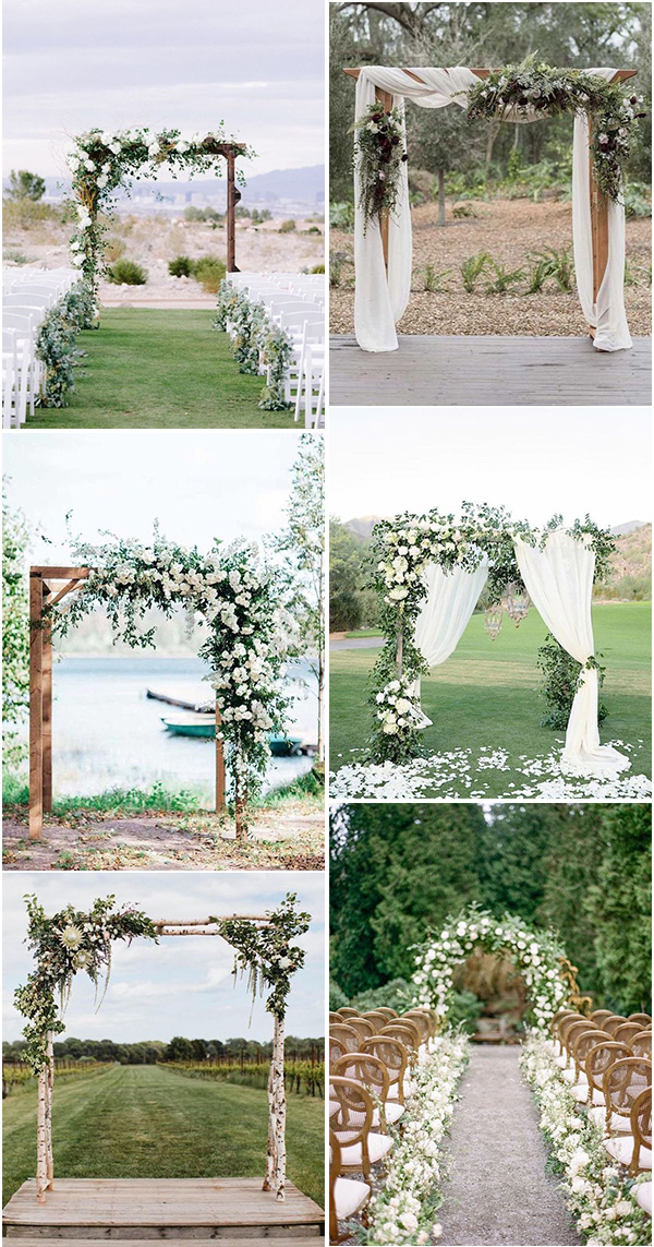 white and greenery wedding arches on a budgetwhite and greenery wedding arches on a budget