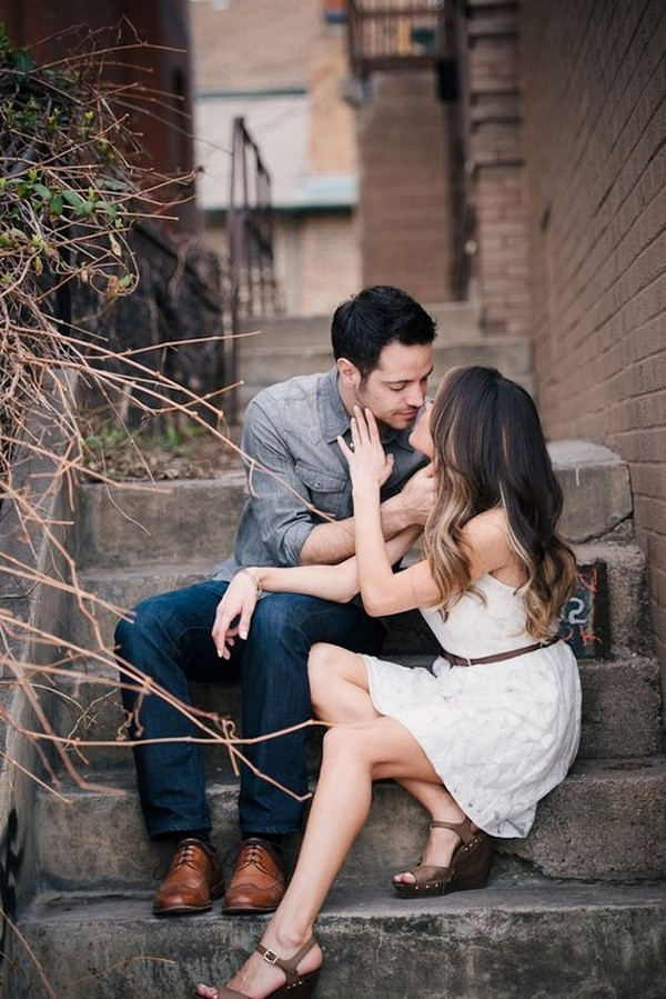 city chic wedding engagement photo deas