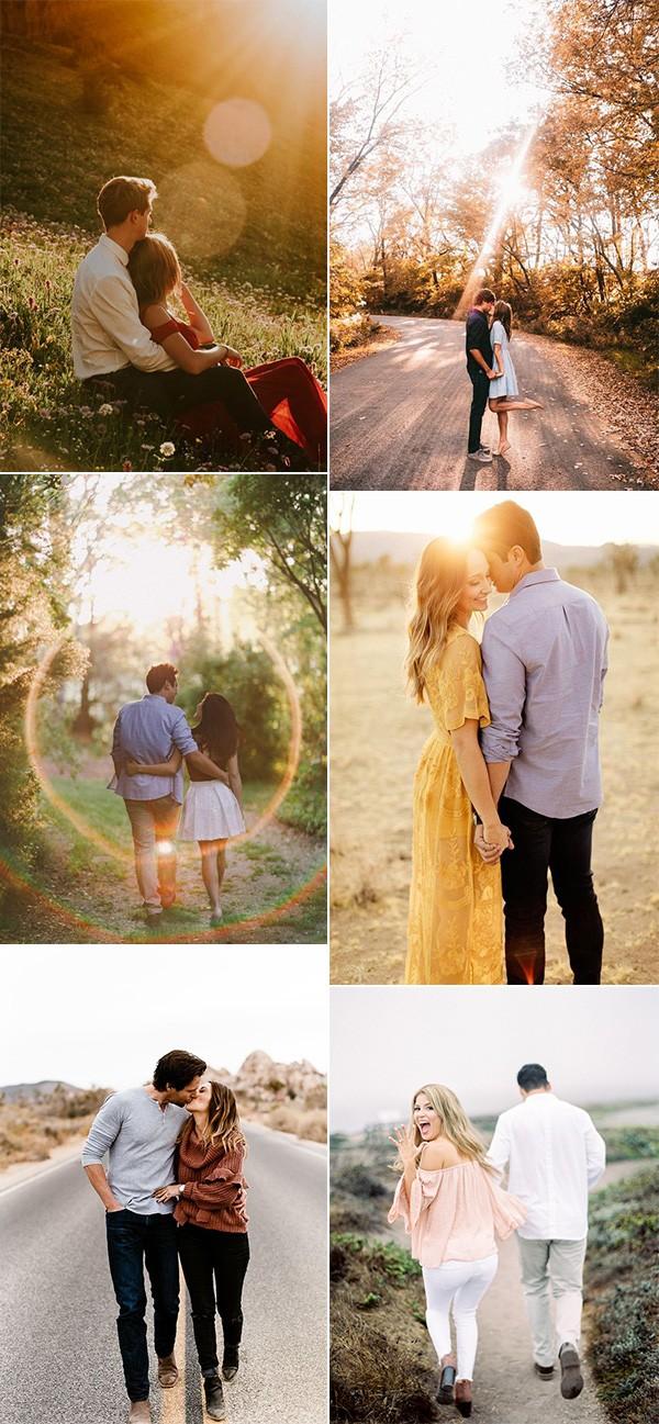 trending romantic engagement photo ideas