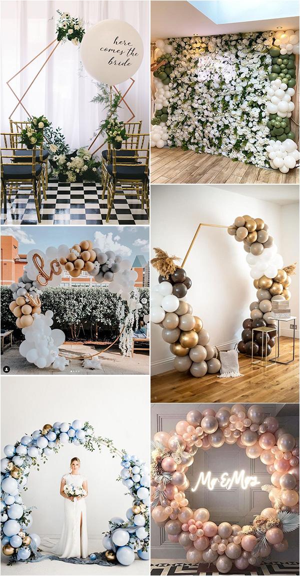 budget friendly balloon wedding backdrop decoration ideas