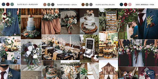 fall wedding colors 2021