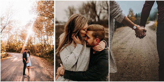 romantic fall wedding engagement photo ideas for 2021