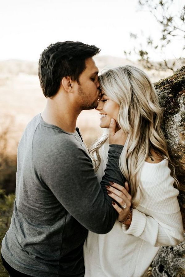 romantic wedding engagement photo ideas