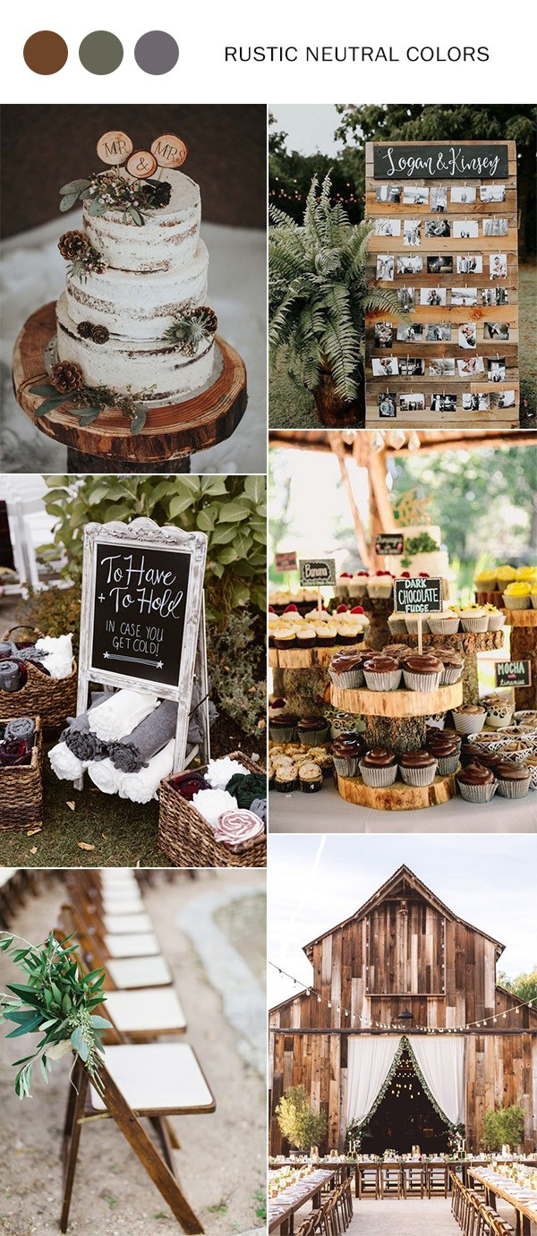 rustic neutral fall wedding color ideas for 2021