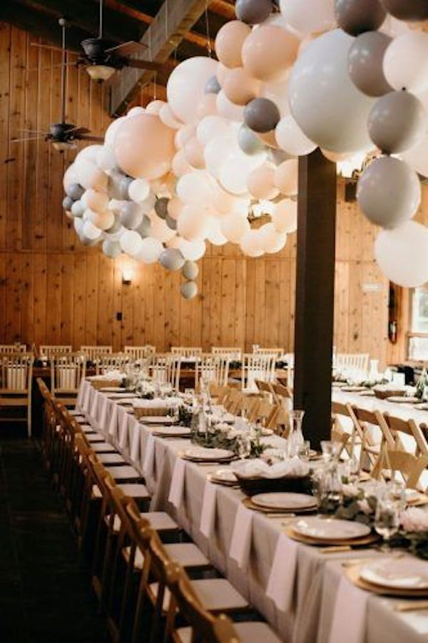 rustic wedding reception ideas with balloons
