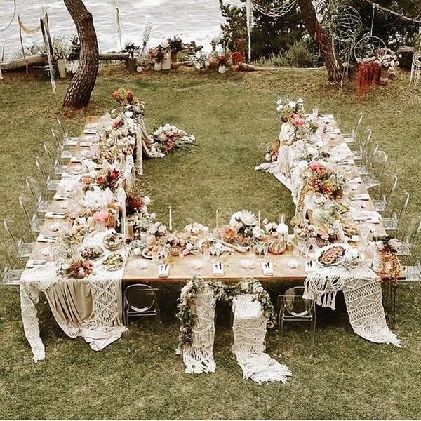 boho small wedding reception ideas
