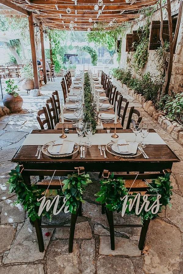 chic small wedding reception ideas