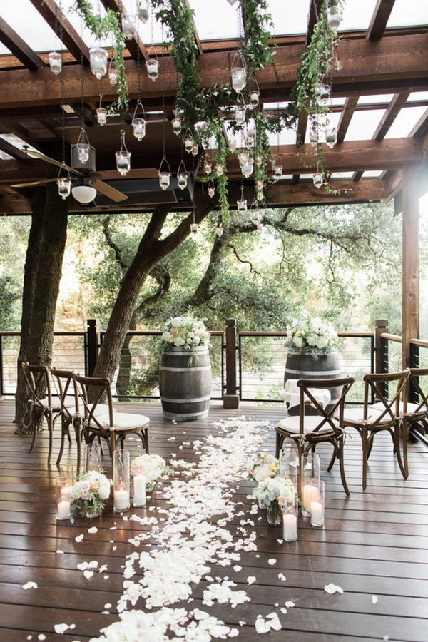 rustic small wedding ceremony ideas