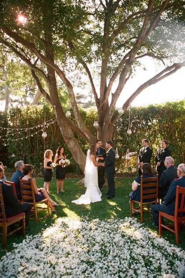 small outdoor wedding ceremony ideas